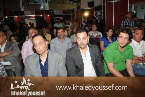 طارق العريان وكمال عبدالعزيز وخالد يوسف ورباب ابراهيم فى مؤتمر لازمه السينما المصريه (1)