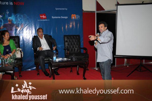 خالد يوسف ومحمد العدل وسلمى الشماع (1)