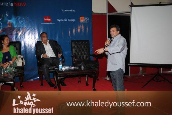 خالد يوسف ومحمد العدل وسلمى الشماع (2)
