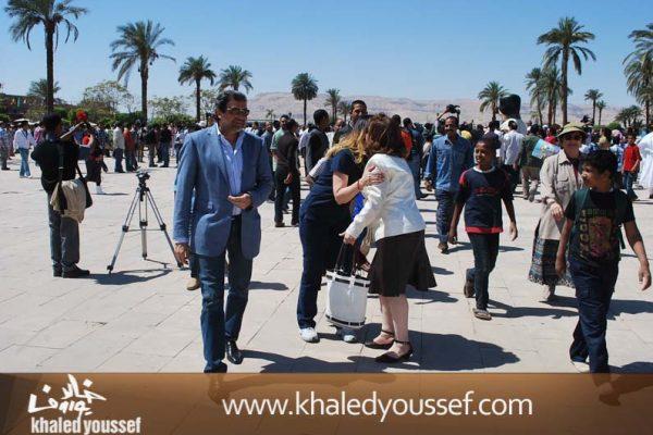 الحسينى-ويسرا-وخالد-يوسف-فى-افتتاح-مهرجان-الاقصر-1