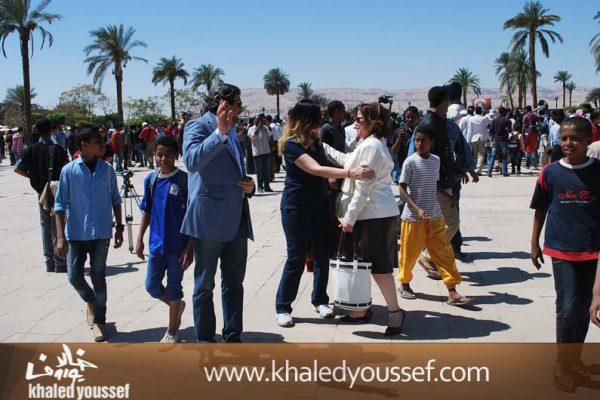 الحسينى-ويسرا-وخالد-يوسف-فى-افتتاح-مهرجان-الاقصر-3